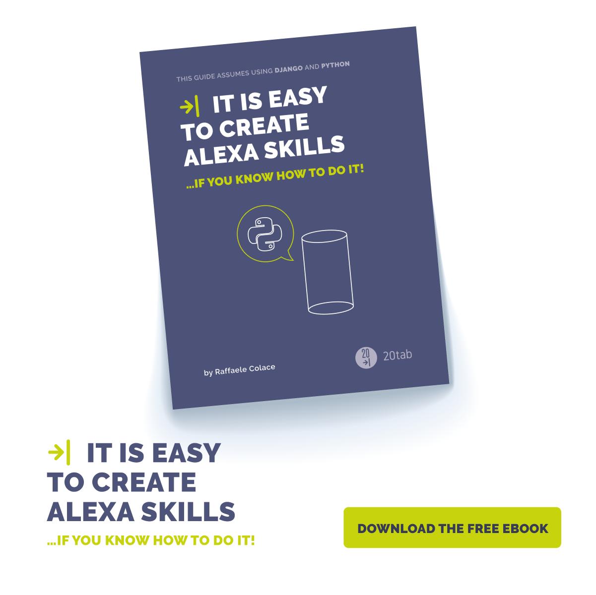 ebook skill Alexa eng